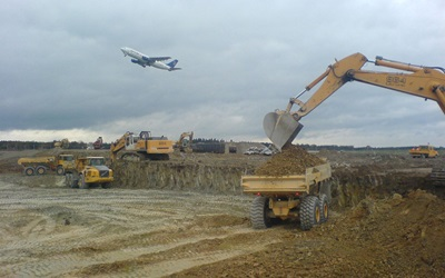 Earthworks/airport construction